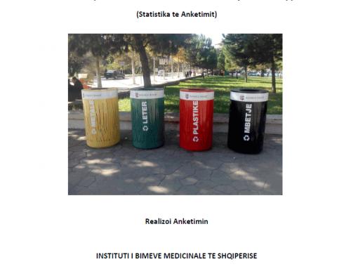 Anketimi mbi vleresimin e publikut mbi menaxhimin e mbetjeve ne Shqiperi