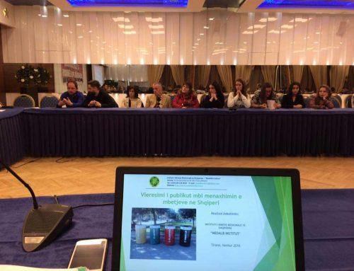 "Survey statistics publication: ""Public Evaluation of Waste Management in Albania"""
